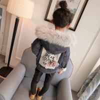 童装冬装新款韩版牛仔外套加厚上衣加绒儿童秋冬棉衣A-S35