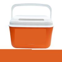 户外保温箱家用食品保鲜箱商用冷藏箱大小号便携钓鱼车载外卖冰桶 5升橙色2个冰袋 +4个冰袋
