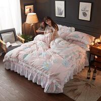 韩版床单四件套公主风全棉床裙韩式蕾丝被套被罩2.0米床上用品1.8