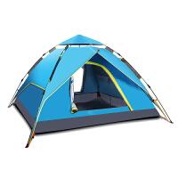 帐篷户外3-4人全自动两室一厅2人单双人野外露营家庭套装