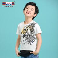 【专区119元4件】铅笔俱乐部童装2020夏装新款男童圆领T恤中大童短袖T恤儿童上衣