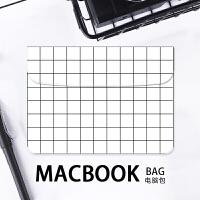 15英寸air白色格子苹果电脑包笔记本13.3寸macbook pro内胆包12 12寸 电脑包 其它尺寸