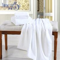 全棉纯色五星级酒店浴巾大毛巾白色浴巾抹胸加大浴巾柔软宾馆 白色