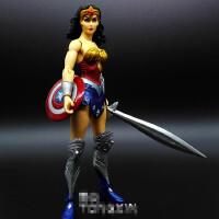 新52神奇女侠超人SUPERMAN 美国队长盾牌 关节可动人偶玩具手办DC
