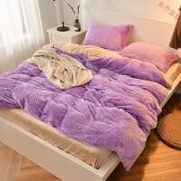 纯色亲肤兔兔绒四件套保暖加厚套件绒类床上用品