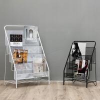 铁艺多层杂志架置物架家居店铺简易落地书架儿童绘本小书架学生书柜