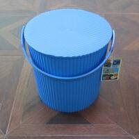 加厚塑料水桶 手提多用桶可坐钓鱼桶坐洗澡桶储物桶收纳桶凳