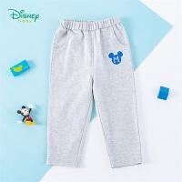 【2件3.8折到手价:52.9】迪士尼Disney童装 男童长裤纯棉透气休闲裤春季新品儿童百搭简约裤子