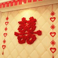 婚庆用品创意泡沫玫瑰花双喜结婚喜字贴婚房布置装饰大喜字