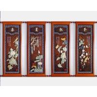 中式客厅装饰画沙发背景墙餐厅挂画三联画现代简约浮雕壁画中国风 高 大号110 小号90