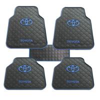 车标汽车脚垫卡通乳胶硅胶橡胶防水防滑保护垫通用五片装加厚