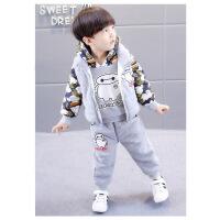 男宝宝冬装2018新款2男童装3加绒加厚6卫衣1-7岁儿童冬季三件套