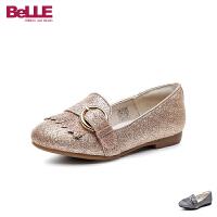 百丽Belle童鞋18新款儿童皮鞋女童流苏时装鞋中童秀气舒适学生鞋 (5-10岁可选) DE0599
