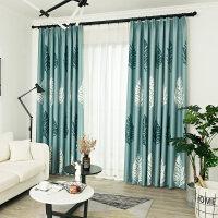 窗帘成品简约现代ins风客厅卧室阳台飘窗加厚落地遮光窗帘布定制