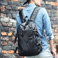 男士双肩包男时尚潮流旅行背包新款休闲电脑皮包韩版大学生书包男SN6523