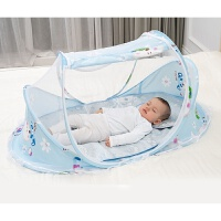 婴儿床蚊帐罩 婴儿蚊帐罩可折叠便携式宝宝防蚊罩新生儿婴幼儿小床bb蒙古包通用A