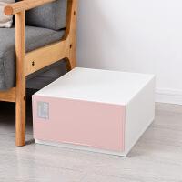 抽屉式收纳箱儿童宝宝衣柜透明塑料收纳盒多层床底储物整理箱 一件
