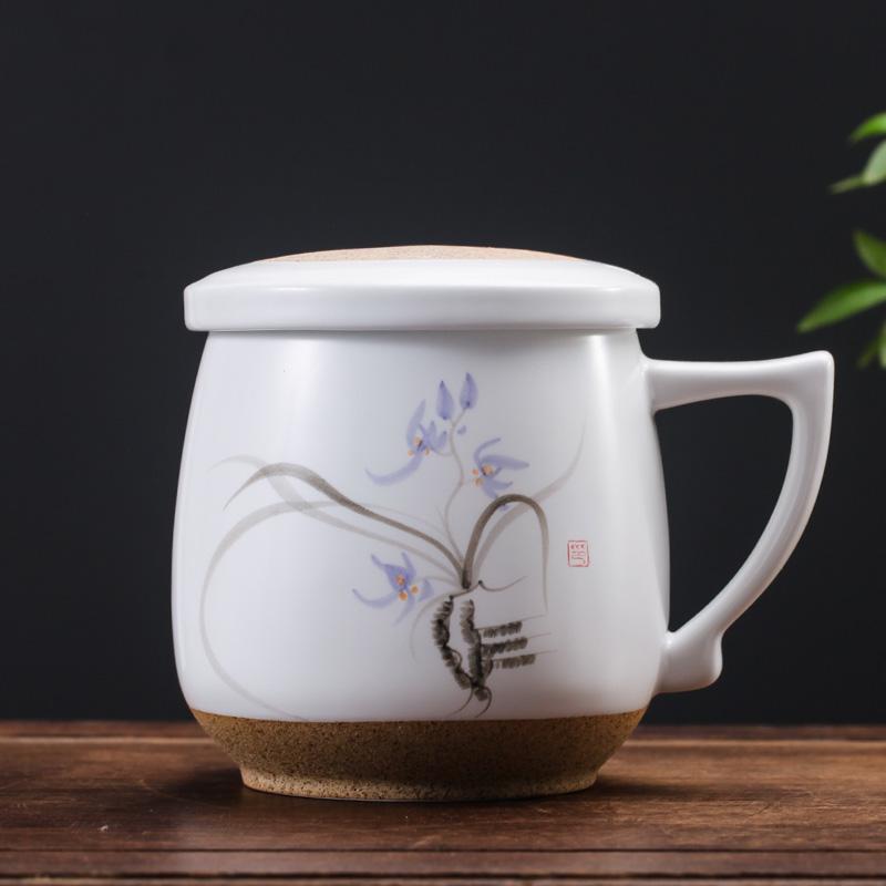 景德镇手绘茶杯陶瓷三件杯礼品办公马克杯带盖过滤水杯个人泡茶杯29 发货周期:一般在付款后2-90天左右发货,具体发货时间请以与客服协商的时间为准