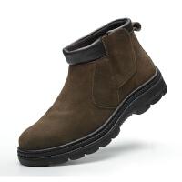 牛皮防火花不系带透气防臭防砸防刺冬天季工作劳保一脚蹬电焊工鞋