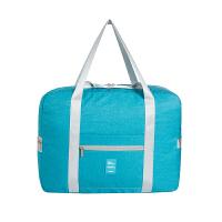 大容量旅行包可折叠休闲袋手提衣物包拉杆包健身包收纳袋防水尼龙 大