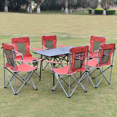 摆摊折叠餐桌椅户外野营桌椅套装 便携式折叠桌椅自驾游烧烤
