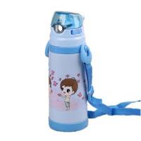 可爱宝宝便携水壶 男女学生水杯子吊带 儿童保温杯带吸管杯