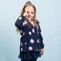【预估券后价:109元】暇步士童装冬季新款女童棉服简约时尚薄棉服儿童棉服