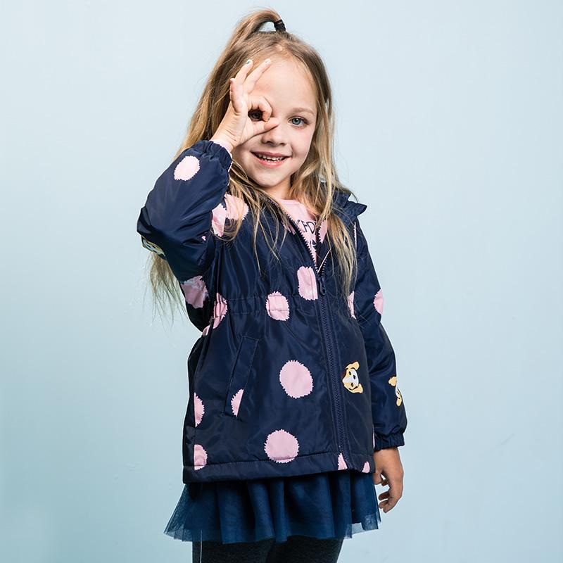 【5折价:192元】暇步士童装冬季新款女童棉服简约时尚薄棉服儿童棉服 暇步士大牌日