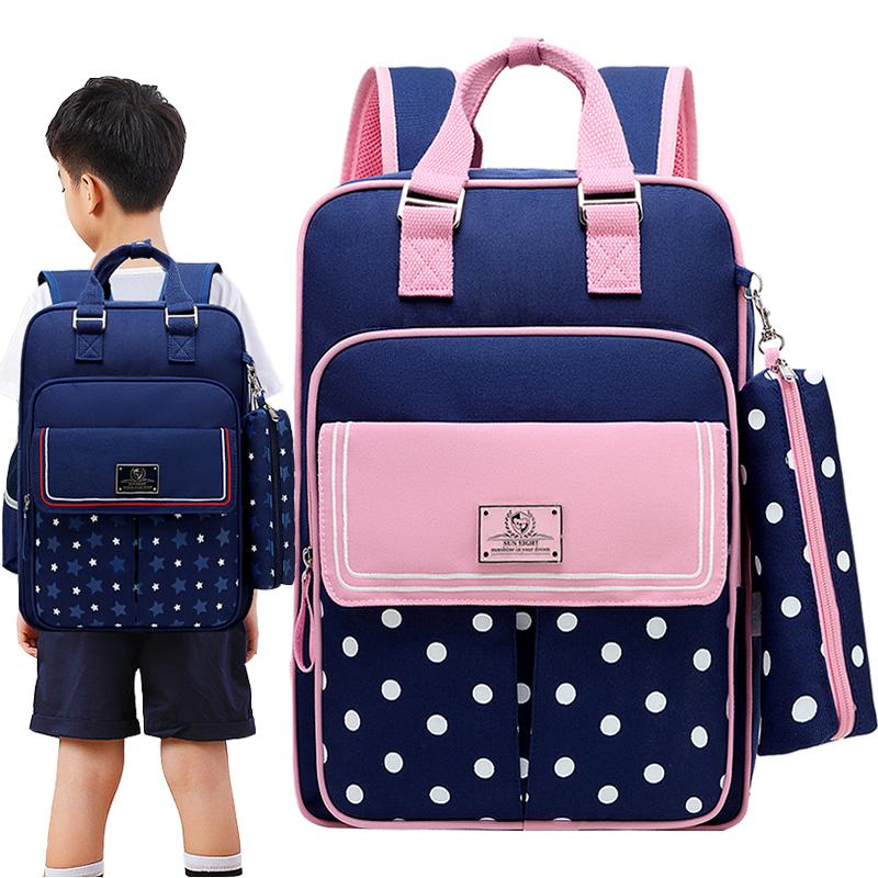 儿童书包女童一二年级双肩包8-12周岁男孩帅气背包四五年级