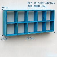 实木隔板壁挂木质墙上置物架 墙壁装饰展示架 杂物玩具整理收纳架 长68.5*宽28.8*侧面宽8cm