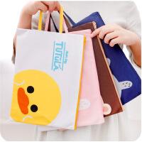 韩国文具可爱卡通手提牛津布文件袋A4学生公文帆布拉链资料档案袋