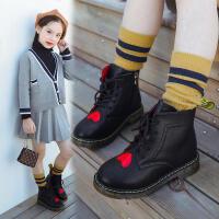 女童靴子秋冬季靴2018新款英伦风儿童短靴真皮小公主女孩马丁靴