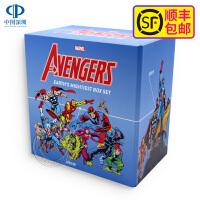 现货 英文原版 漫威复联漫画超级英雄联盟复仇者全套盒装附海报Avengers Earth's Mightiest Box