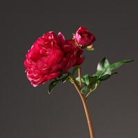 仿真花假花大开牡丹花枝摆设 客厅落地绢花室内装饰花 橱窗插花摆放花卉