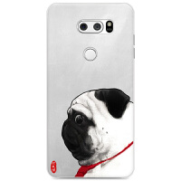 LG V30手机壳半包硬壳lg v30+保护套创意情侣新潮男款女防摔