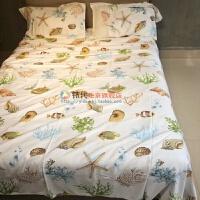 夏季床单加厚加密单人双人床单软凉席老粗布 卡其色 贝壳(三件套) 230cmx250cm