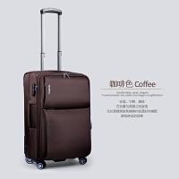 拉杆箱万向轮耐磨男女行李箱登机箱 旅行箱软箱密码箱20/24/28寸 灰色 咖啡色