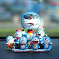 哆啦a梦叮当汽车摆件机器猫摇头公仔创意可爱车内装饰品车载模型