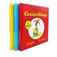 英文原版 Curious George 好奇猴乔治 经典3册 24个故事 精装【4-8岁】