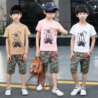 男童夏装新款套装儿童夏季童装中大童帅气运动休闲迷彩