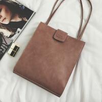 新款2018简约托特包休闲手提包女士包包时尚大容量韩版女包单肩包