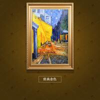 油画手绘抽象风景欧式家居客厅卧室玄关装饰画露天咖啡馆挂画 连框90*120cm 单幅