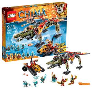 [当当自营]LEGO 乐高 Chima气功传奇系列 金狮蛮鳄终极合体救援机 积木拼插儿童益智玩具 70227