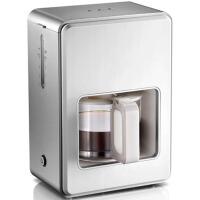 家用自动美式煮咖啡保温咖啡壶咖啡机 1.2L 白色