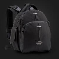 双肩单反相机包女包微单摄影包防水平板电脑户外旅行小型迷你背包 黑色