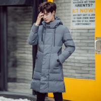士冬季2018新款羽绒潮流韩版中长款棉衣修身帅气装