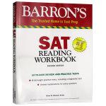 巴朗新SAT阅读练习册 英文原版 Barron's SAT Reading Workbook 第2版 美国高考阅读 含