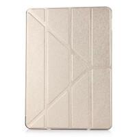 苹果ipad2/3/4/5/air2/mini2/3超薄多角度折叠保护皮套全包休眠壳 ari1/ipad5土豪金