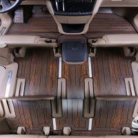 别克gl8木地板脚垫改装17款商务车游艇实木地板内饰装饰配件 木质脚垫 升级款【栓木纹】