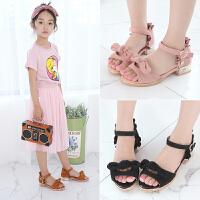 女童凉鞋高跟鞋韩版儿童鱼嘴公主鞋宝宝夏季沙滩鞋子